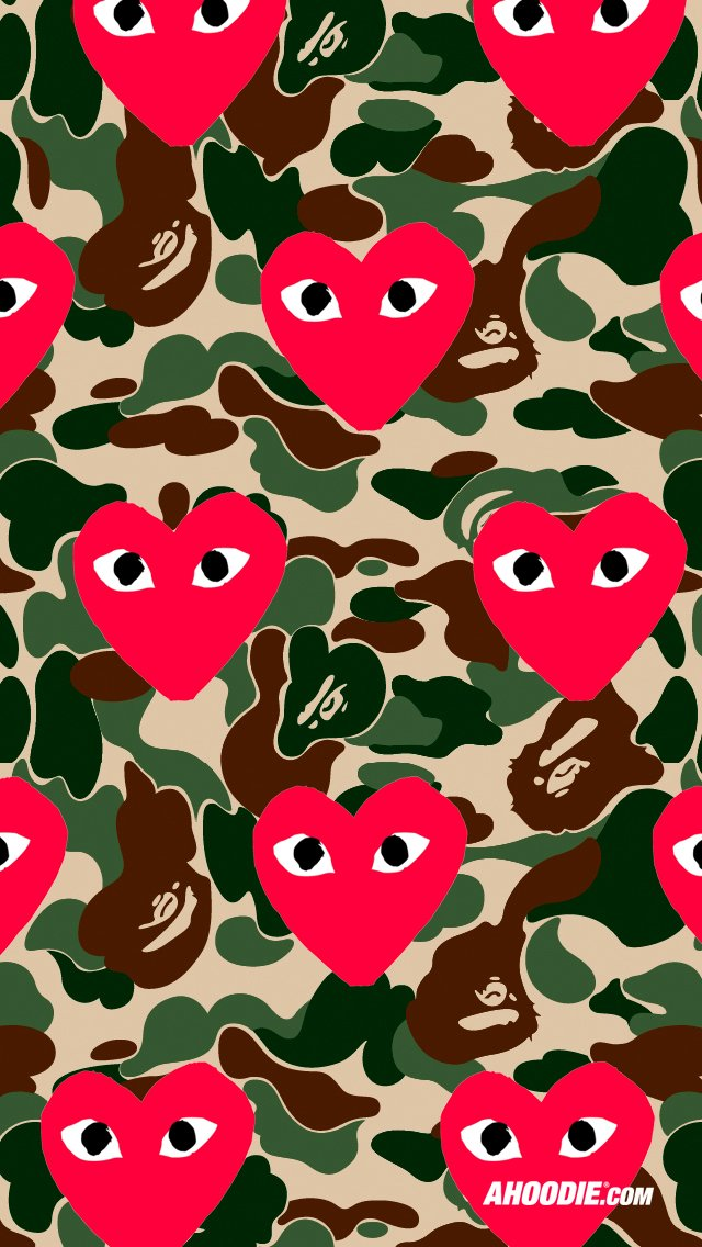 Bape Iphone Wallpaper Bape Wallpaper Iphone 5 Comme 640x1136