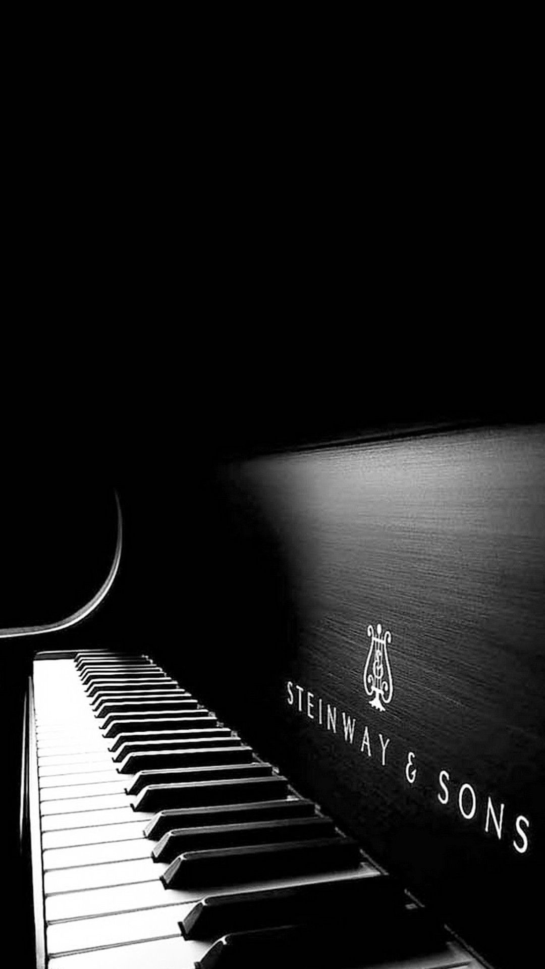 Steinway and Sons Black Piano Smartphone Wallpaper and Lockscreen 1080x1920