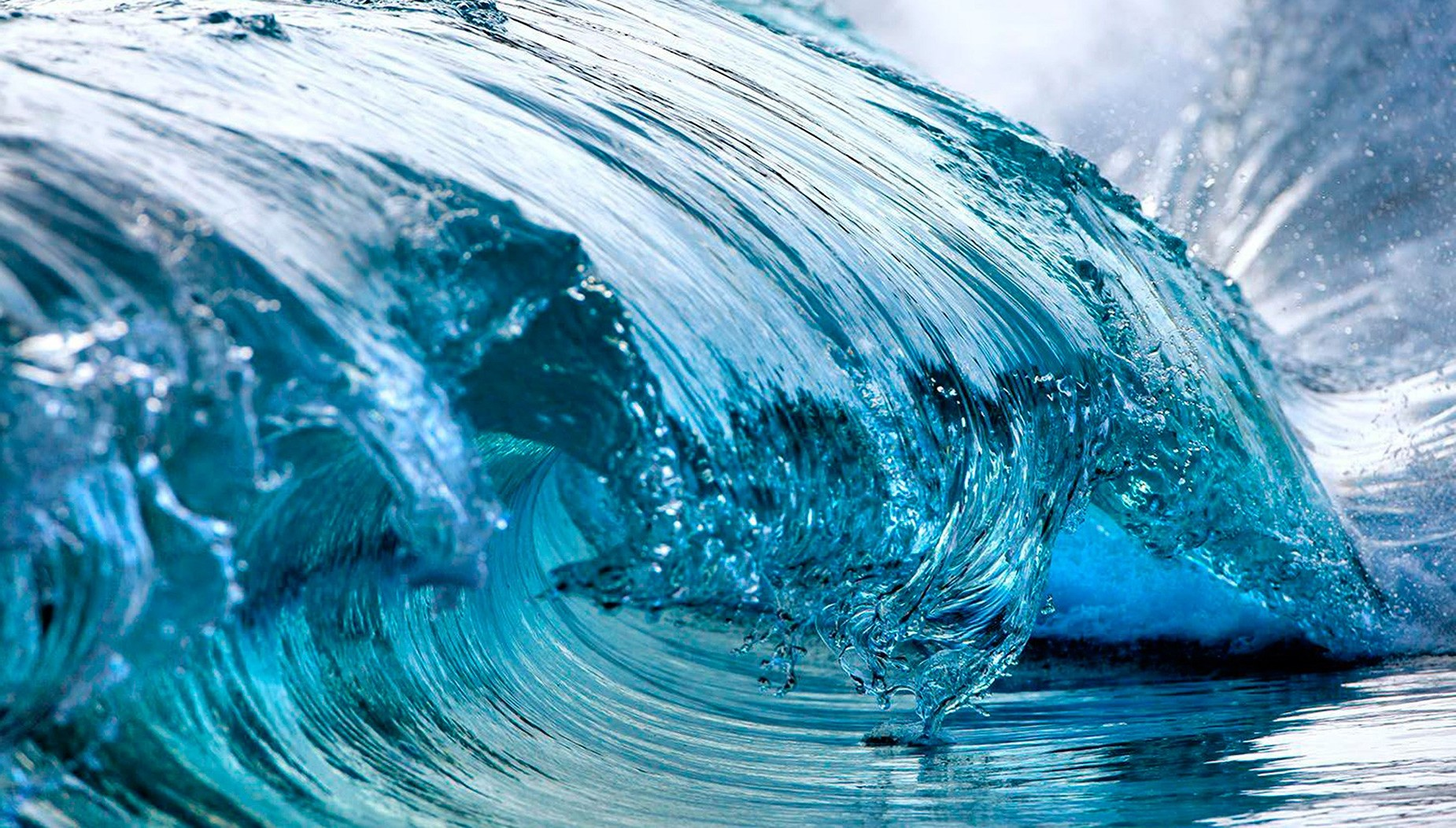 waves Nature Sea Water Water Drops Wallpapers HD 1850x1052