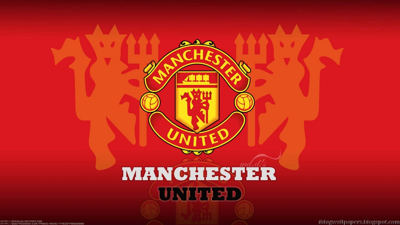 1366x768px Manchester United Logo Wallpaper 1366x768
