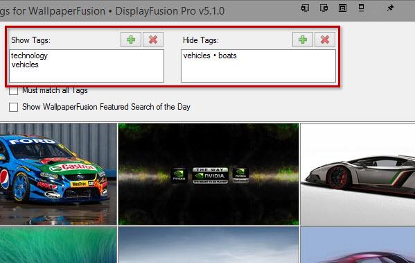 WallpaperFusion Tag Selectors 599x379