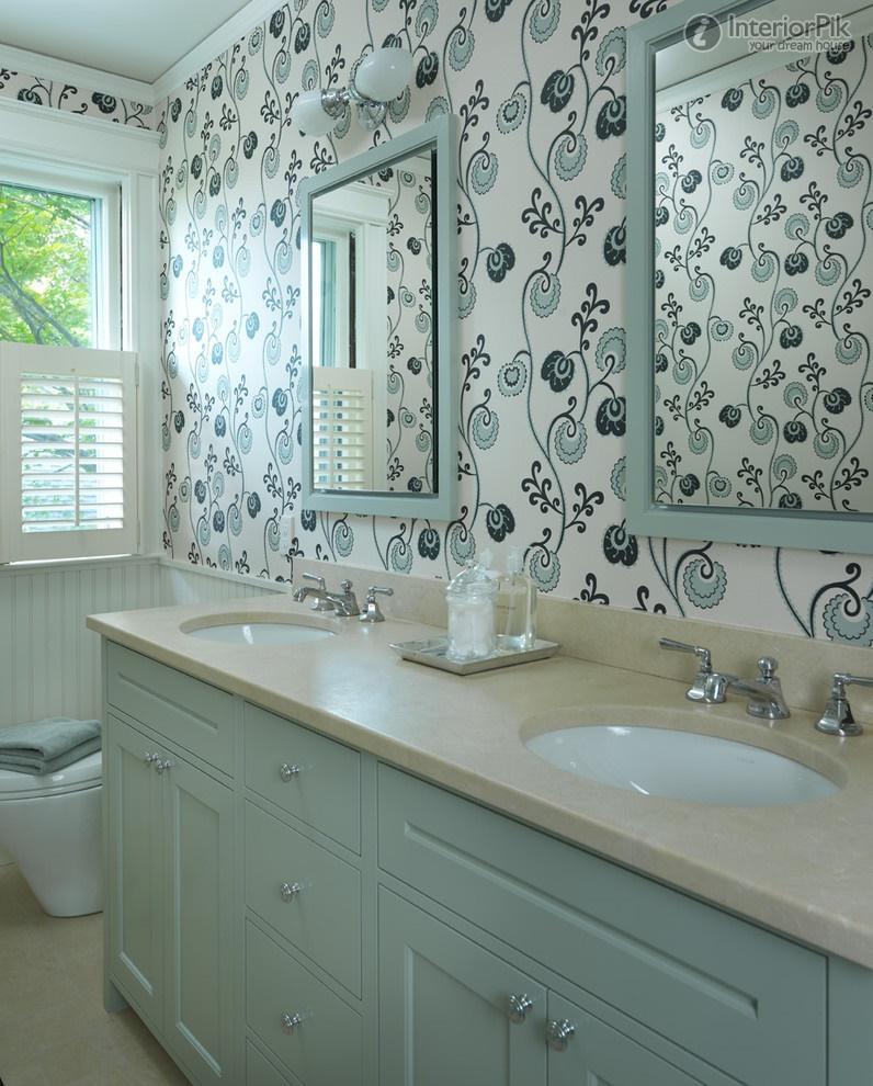 European Style Small Bathroom Wallpaper Picture Bathroom