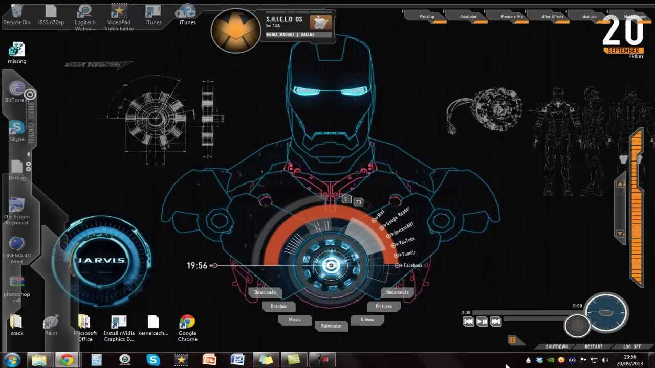 Jarvis live wallpaper for pc wallpapersafari displaying 14 images for iron man jarvis theme for windows 7 1280x720 publicscrutiny Gallery