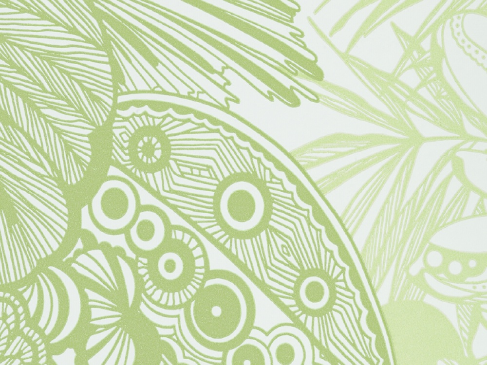 Hula Citrus Green Floral Wallpaper with Delivery 1000x750