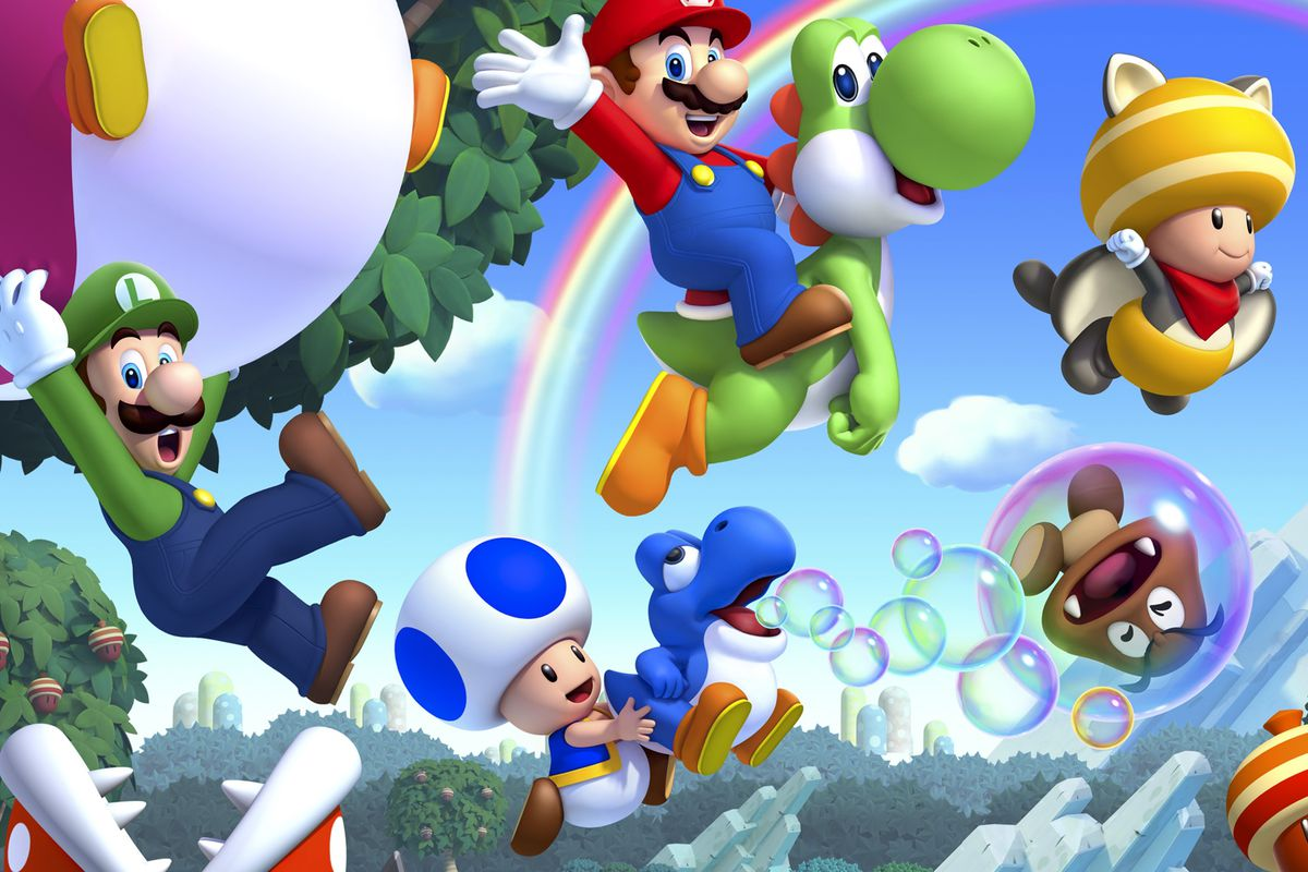 New Super Mario Bros U Deluxe has playable Blue Toad but one 1200x800
