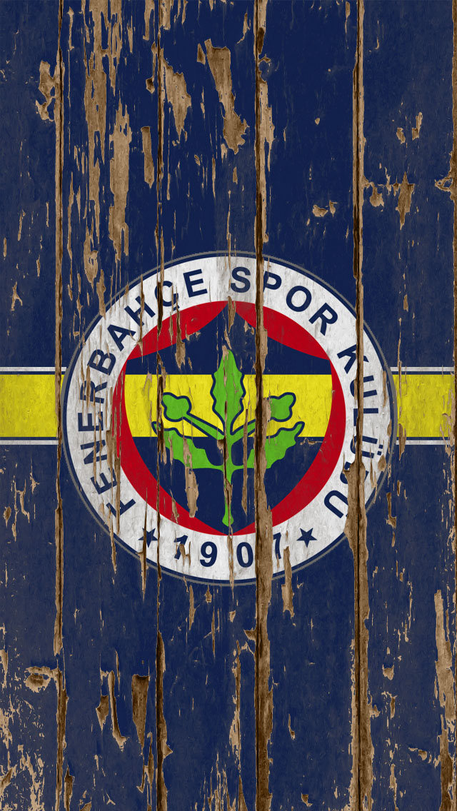 iPhone 5 Wallpaper Sports weathered wood blue soccer fenerbahce 640x1136