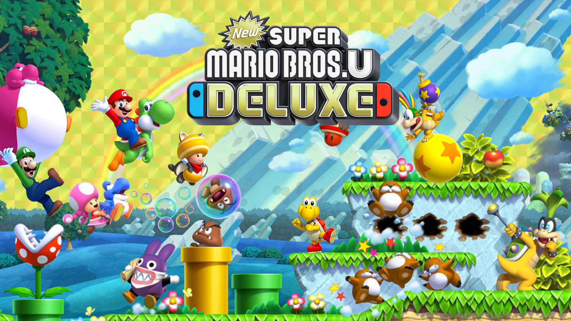 New Super Mario Bros U Deluxe review 2D Mario title gets the 1920x1080