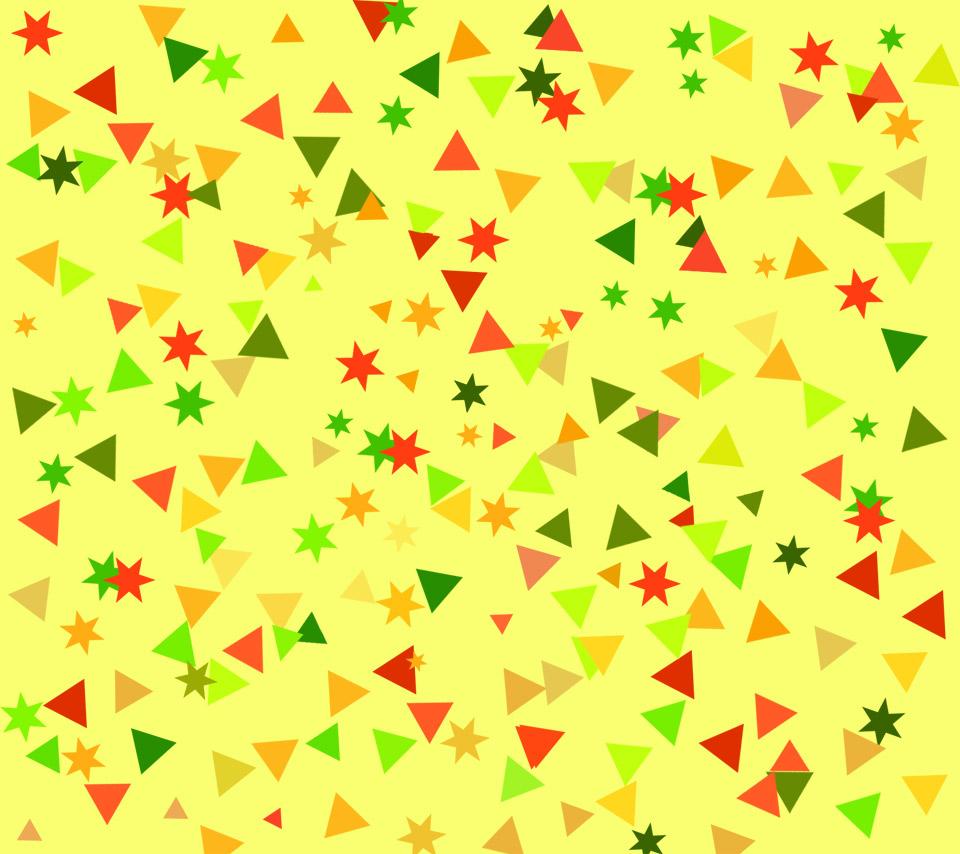 patternpatternsyellowtrianglepentagramredgreencutebright 960x854