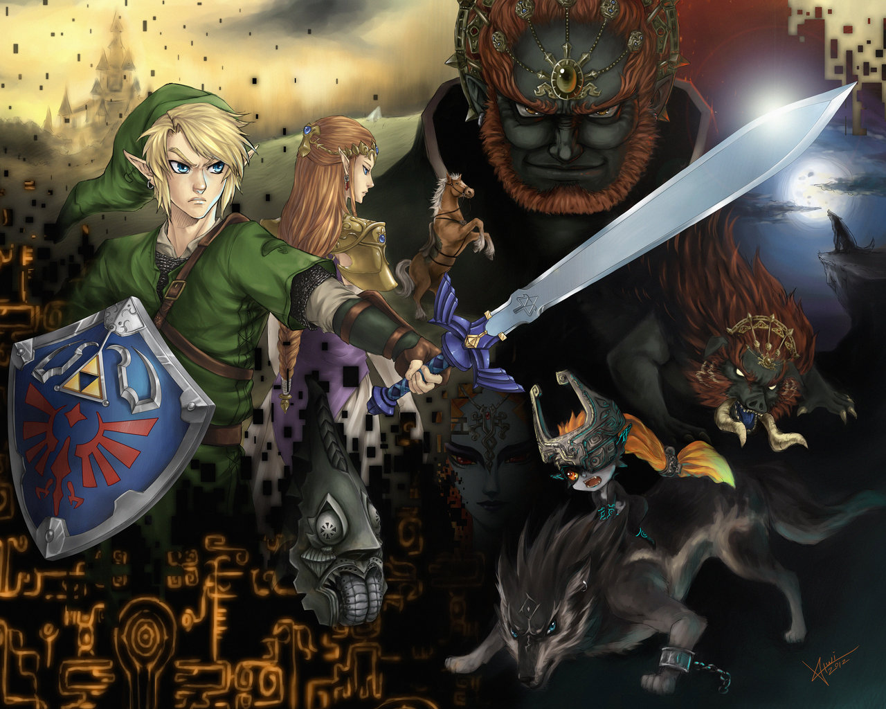 Link Twilight Princess Wallpaper Twilight princess by kiwi san 1280x1024