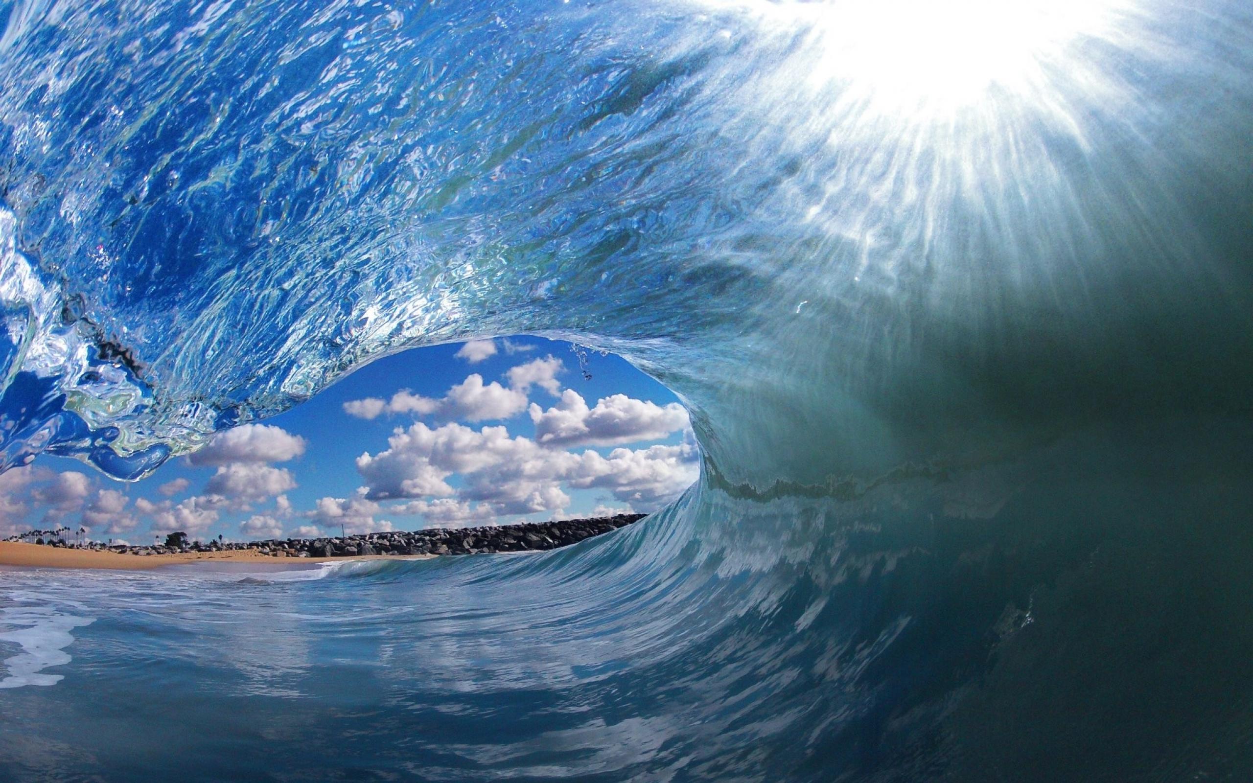 waves tropical clark little Wallpaper Wallpapers Download 2560x1600