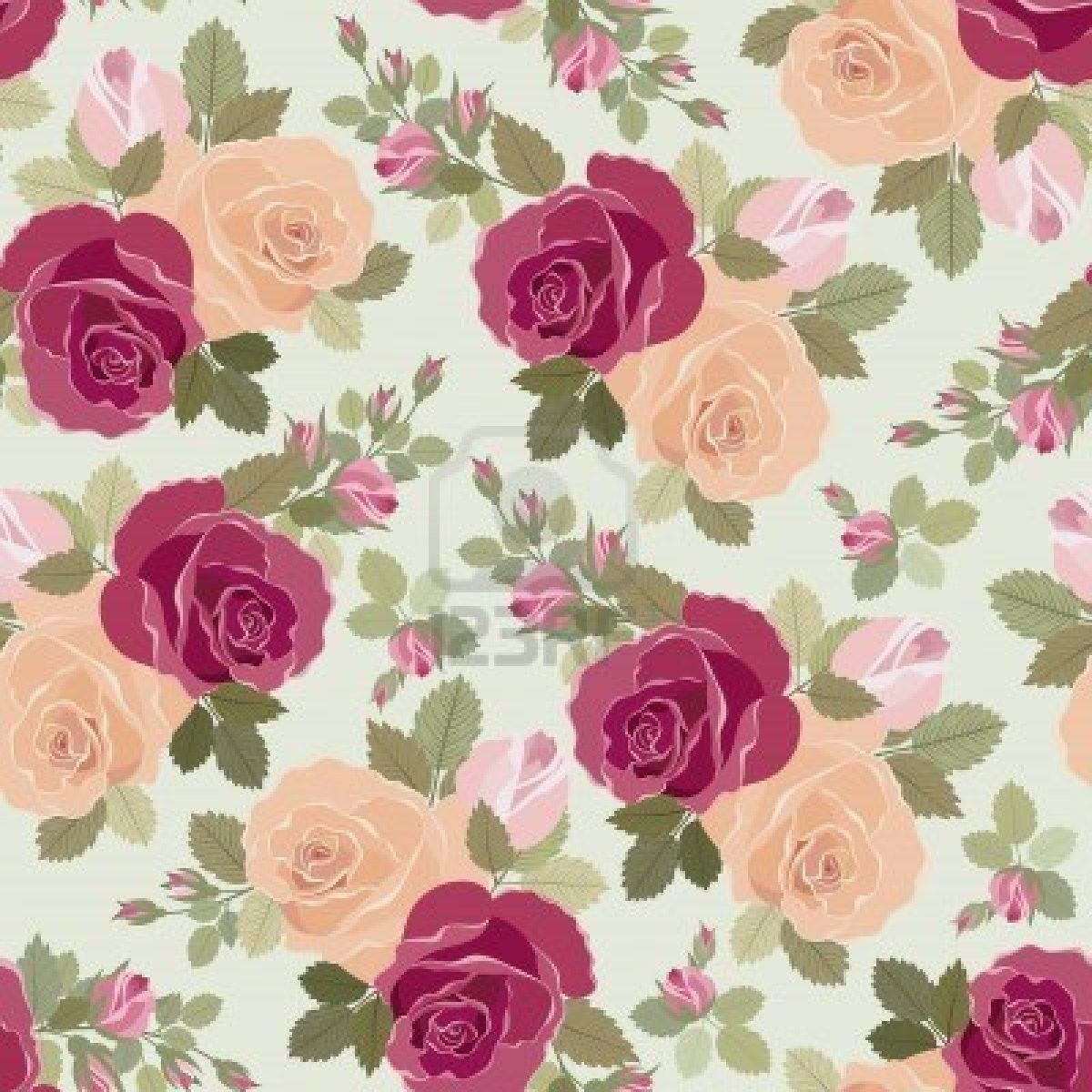 50 Vintage Flower Wallpaper For Iphone On Wallpapersafari