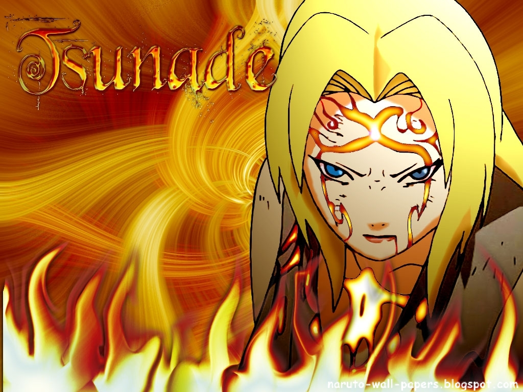 Naruto And Bleach Anime Wallpapers Yondaime Hokage   Tsunade   the 1024x768
