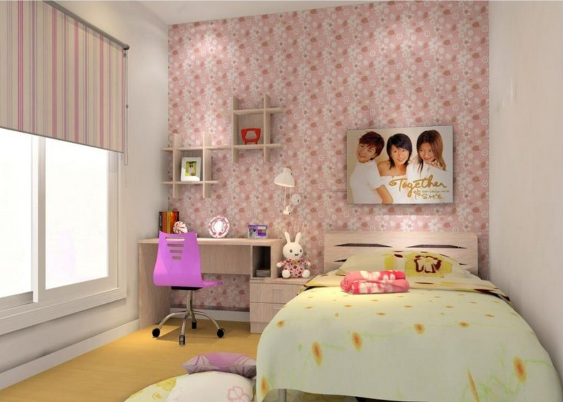 Download Download girl bedroom with pink wallpaper girl bedroom ...