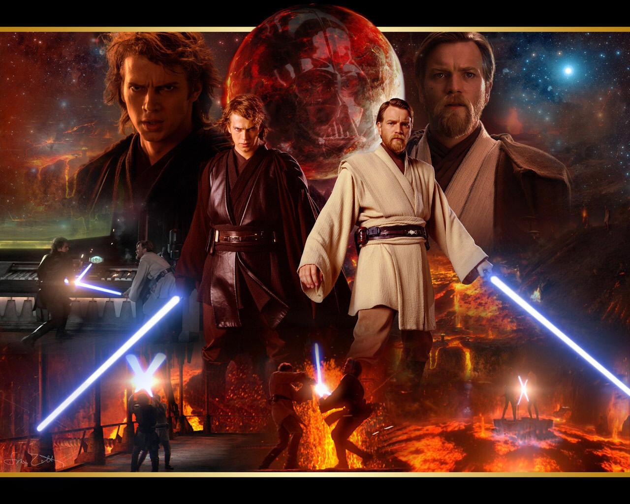 Obi Wan and Anakin   obi wan kenobi and Anakin skywalker Wallpaper 1280x1024