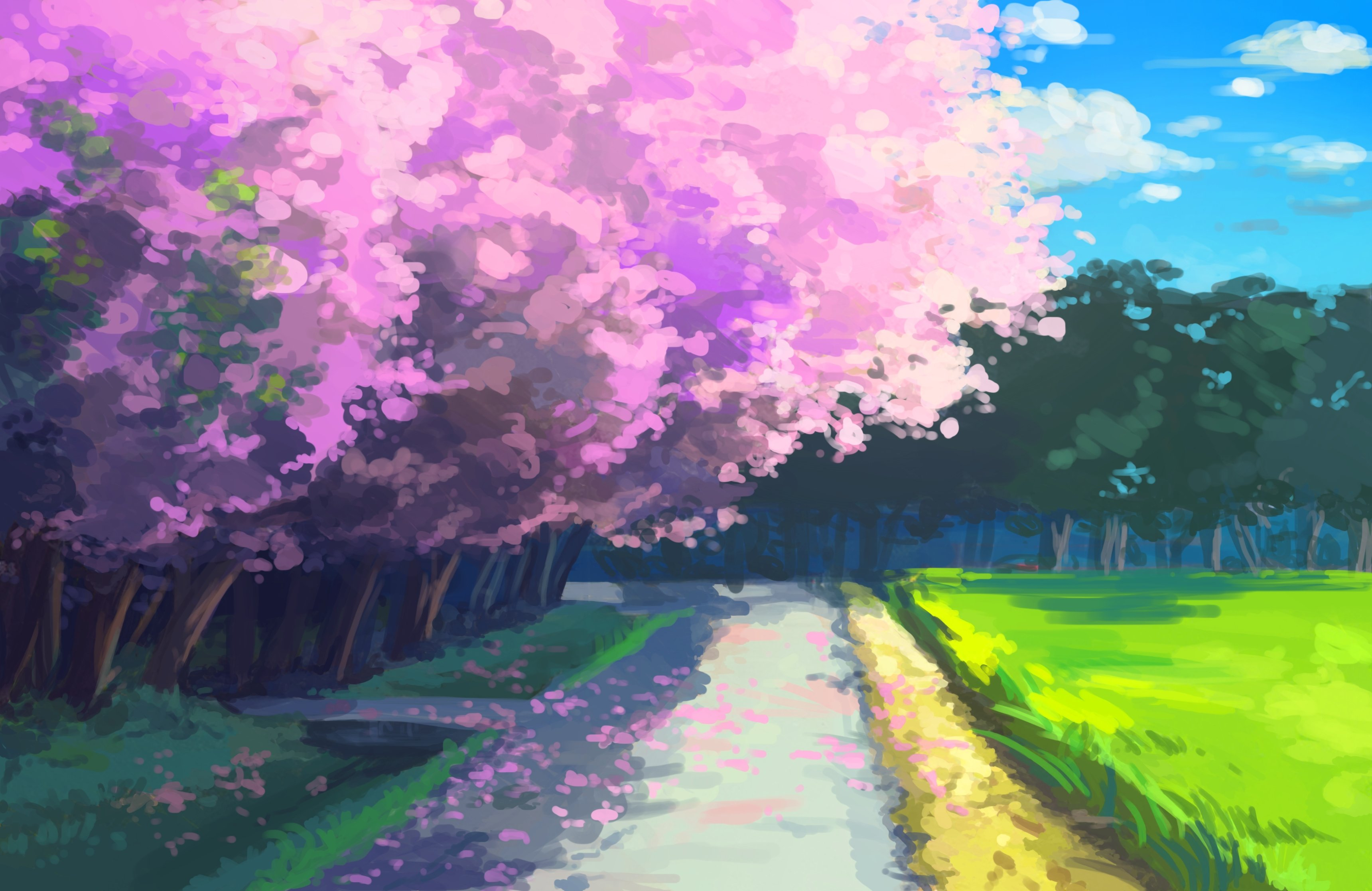 Cherry Blossom original g wallpaper 3440x2234 340714 WallpaperUP 3440x2234