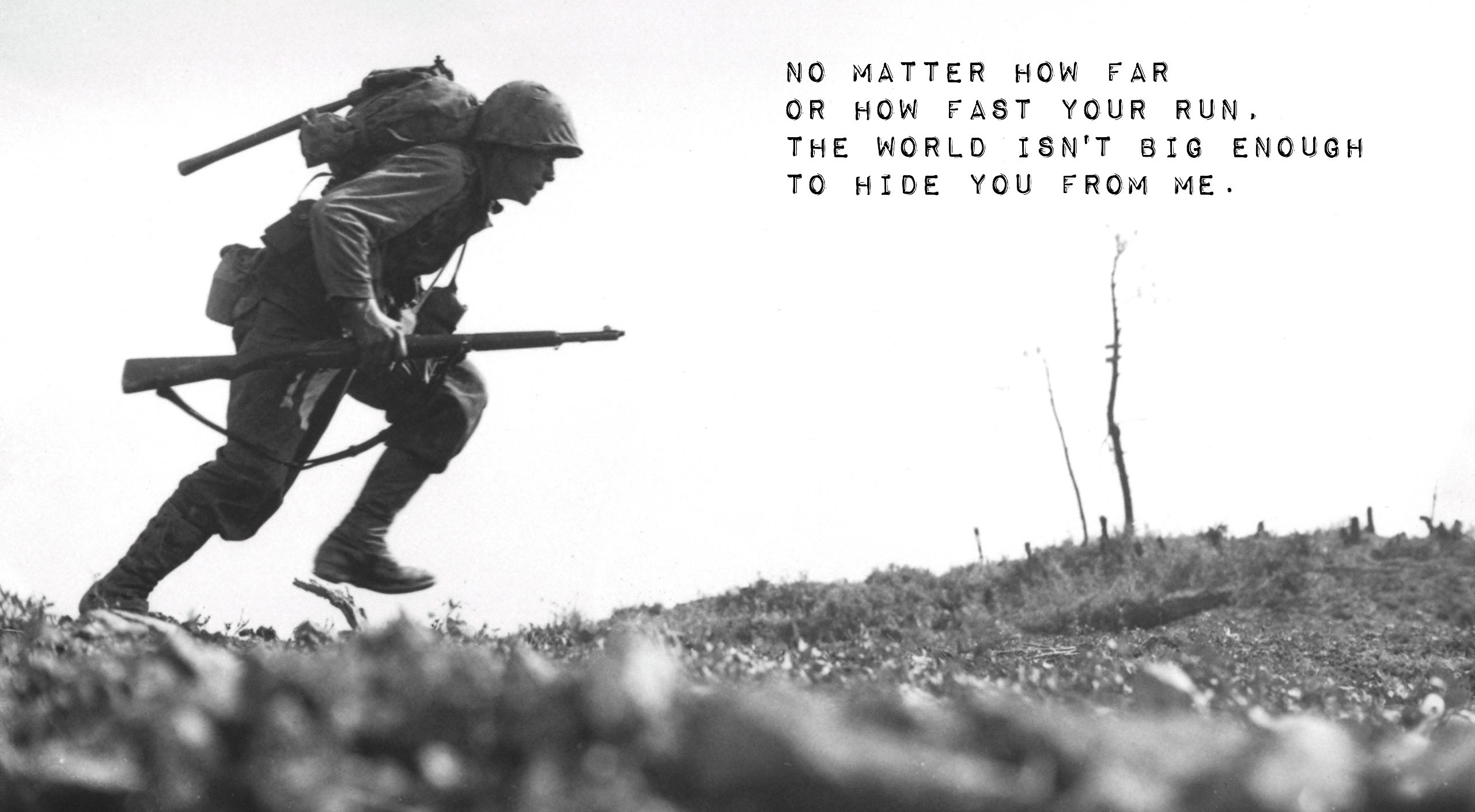 Army quote soldier world war 2 HD Wallpaper 2560x1409