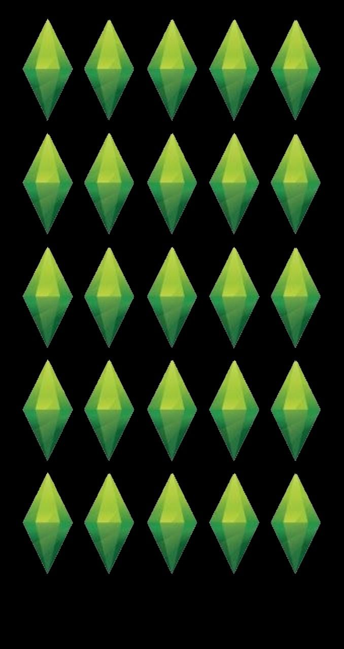 Pin de Waknando em Black background Plumbob the Sims 678x1280