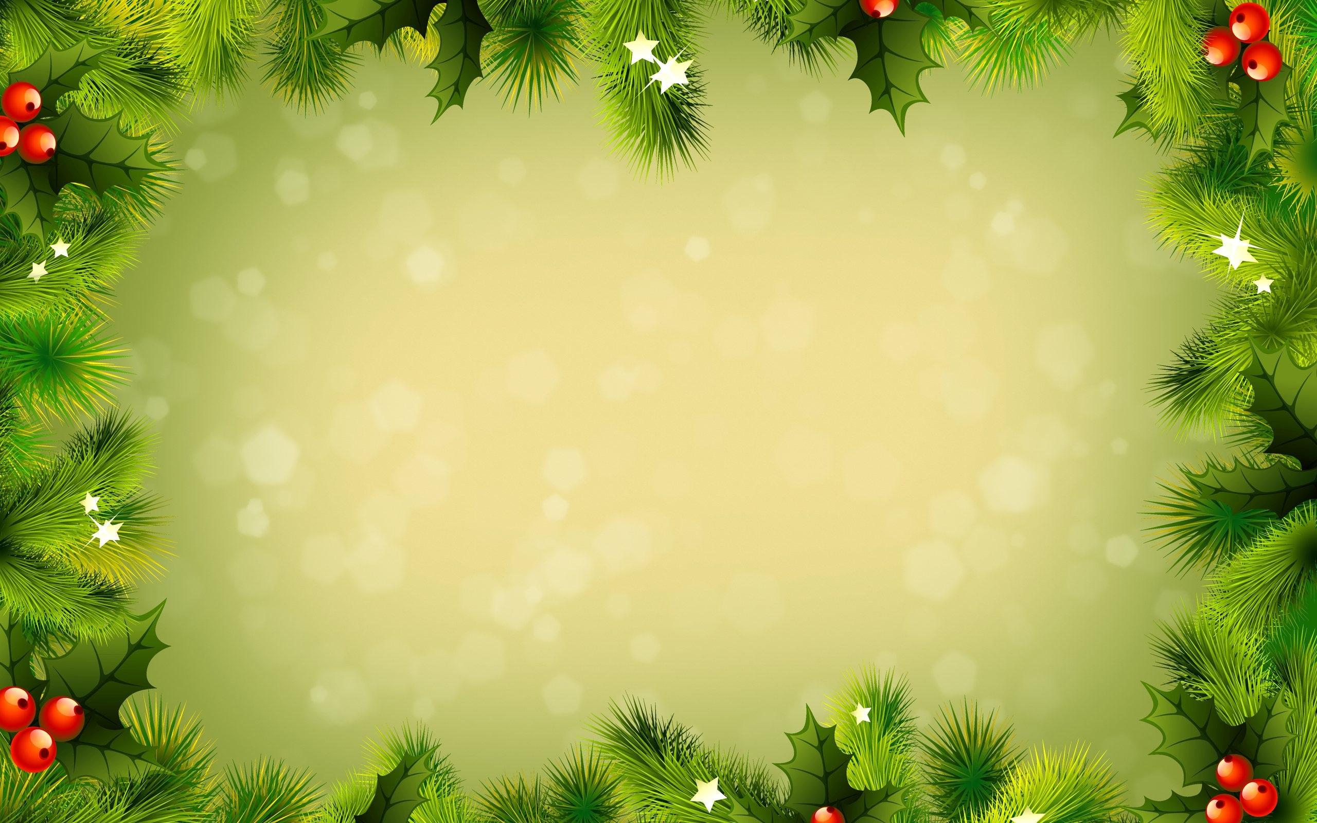 Green Christmas Decorations Hd Wallpaper Wallpaper List 2560x1600