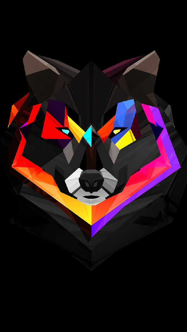 Wolf Polygon Art iPhone Wallpaper CellIconsKeys Pinterest 640x1136