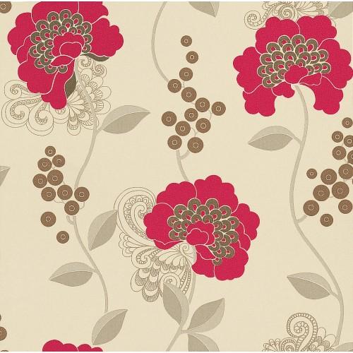 Villa Nova Wallpaper   Florence   Florence Raspberry W21404 500x500