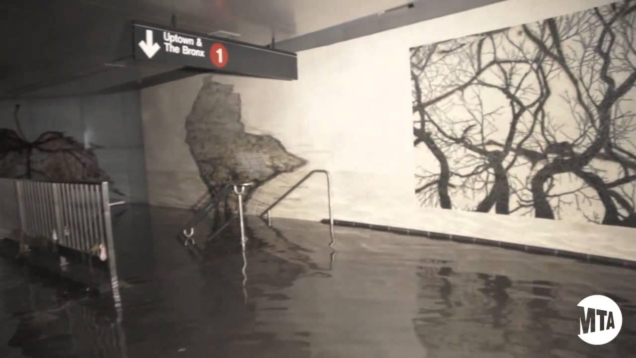 Sandys Aftermath   NYC Subways Submerged Raw Video 1280x720