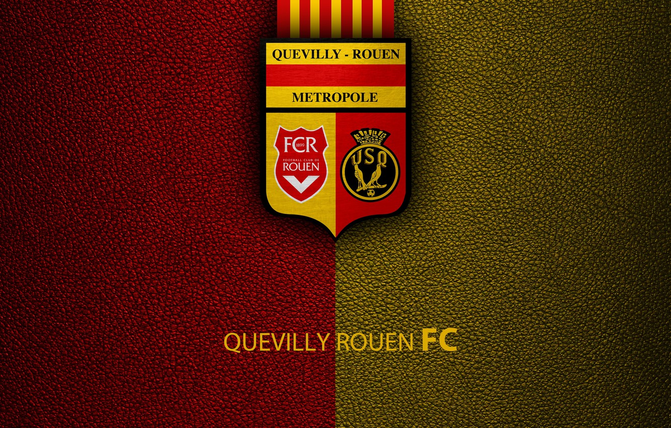 Wallpaper wallpaper sport logo football Ligue 1 US Quevilly 1332x850
