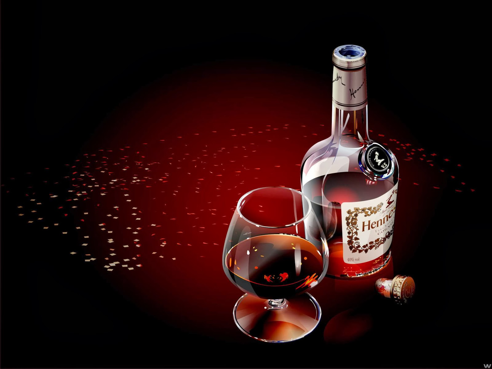 Secrets of Happiness Wine Bottle And Cigar WaLLpapers 1600x1200