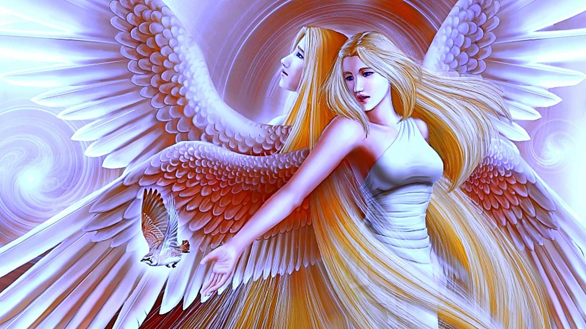 Beautiful Christmas Angels Desktop Wallpaper - WallpaperSafari