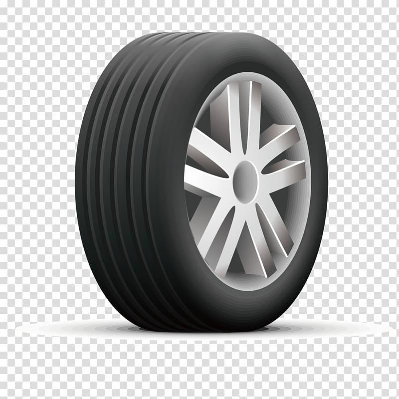 Silver automotive wheel and tire illustration Car Tire Euclidean 800x800
