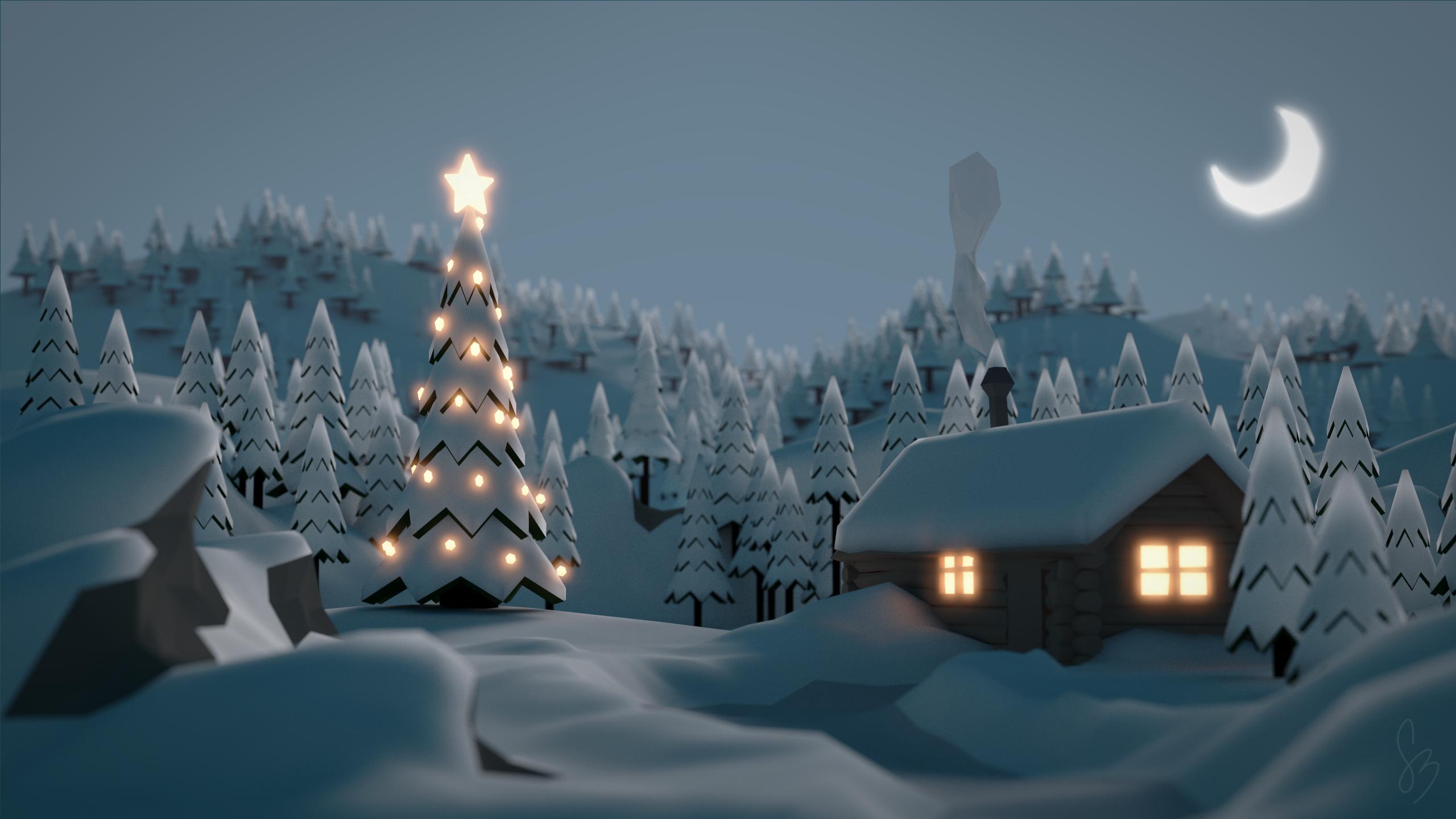Winter Wallpaper HD Download 2560x1440
