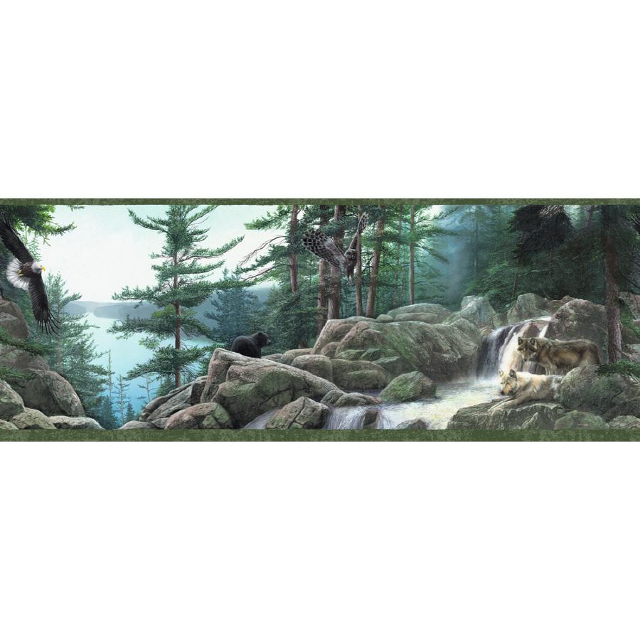10 14 Wildlife Nature Prepasted Wallpaper Border at Lowescom 900x900