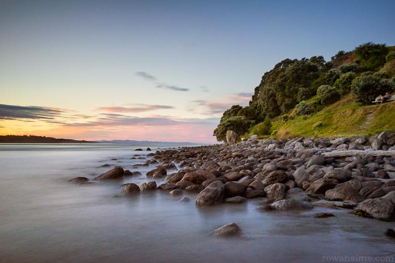 Canvas print of landscape photo of rocks at sunset Mt Maunganui New 800x533