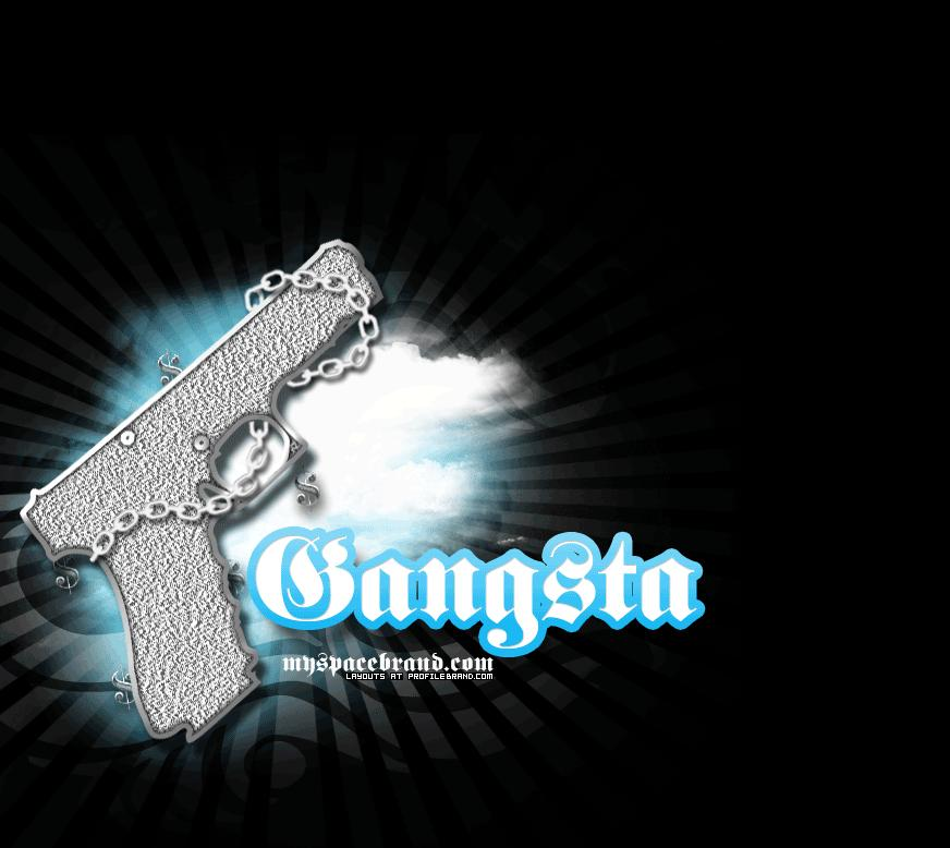 Gangsta Gun Gangster Twitter Background 872x778