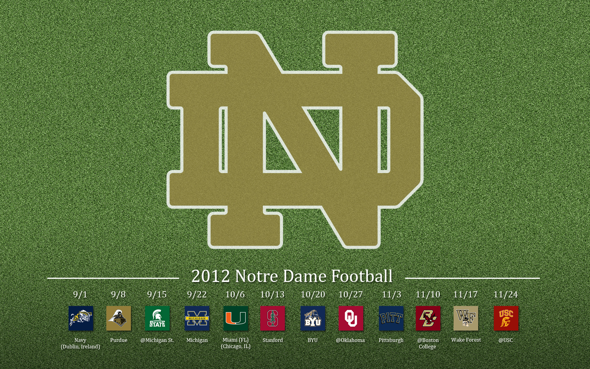 Notre Dame Football Download HD Wallpapers 1920x1200