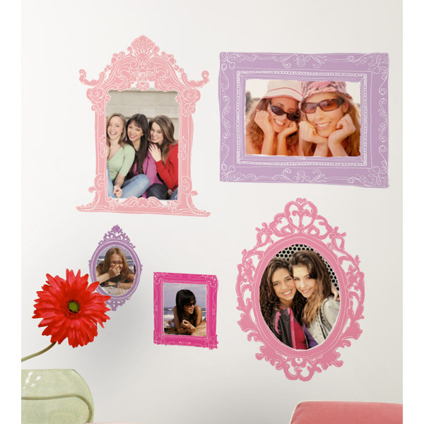 Pink Purple Frames Peel Stick Giant Wall Decals   16707233 600x600