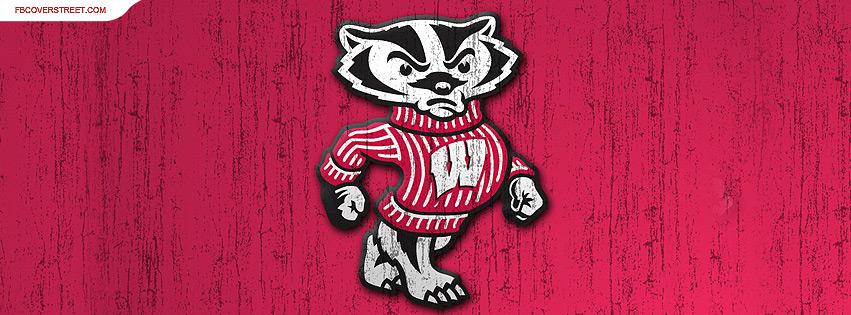 University of Wisconsin Badgers Rough Logo Wallpaper 851x315