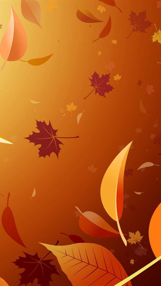 Vector Autumn Leaves Backgrounds For Iphone 5 iPhone5 Wallpaper 640x1136