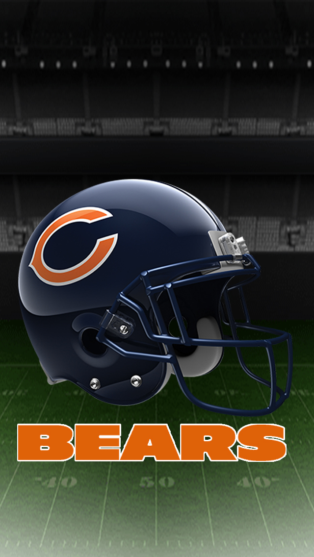 Chicago Bears Helmet 2 iPhone 5 Wallpaper 640x1136 640x1136