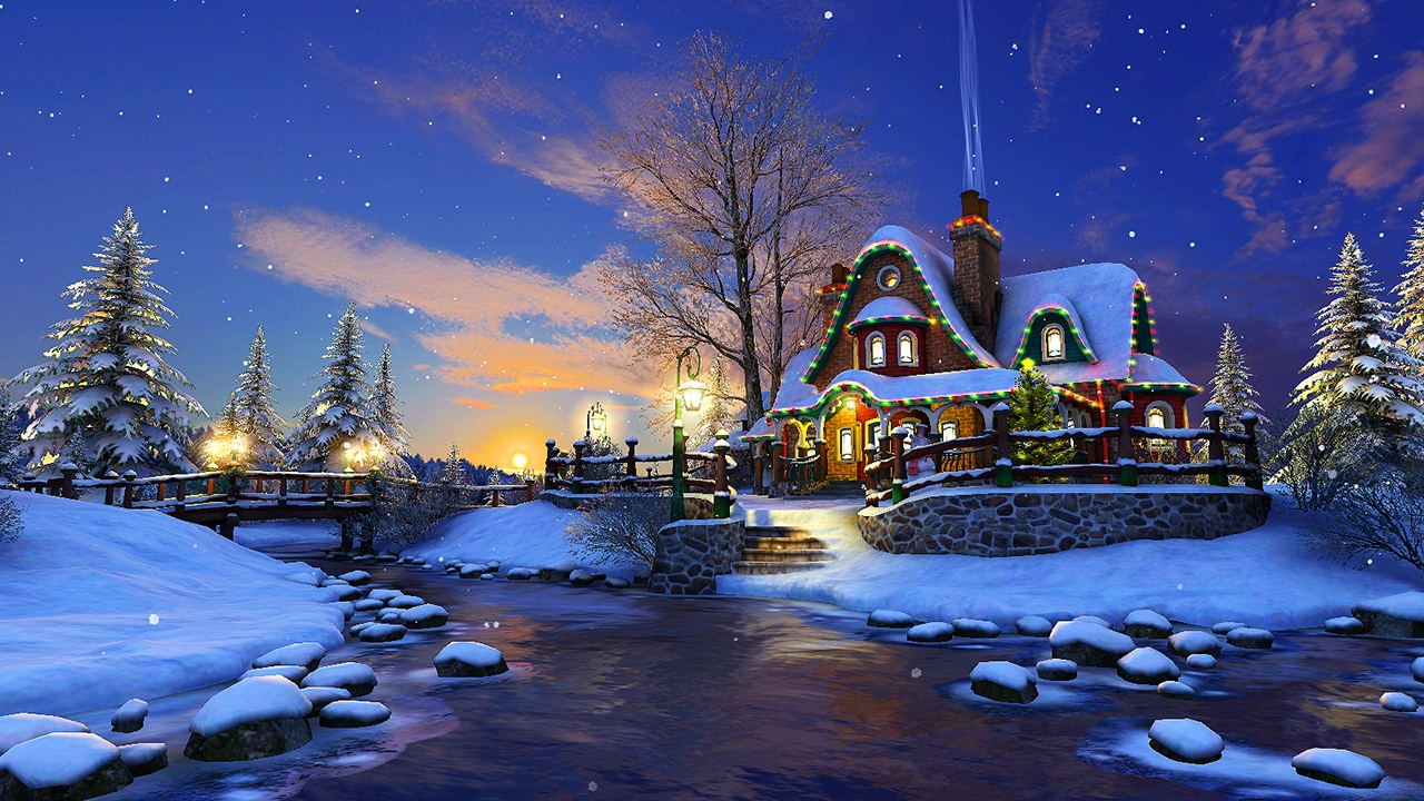 Free Download White Christmas 3d Screensaver Live