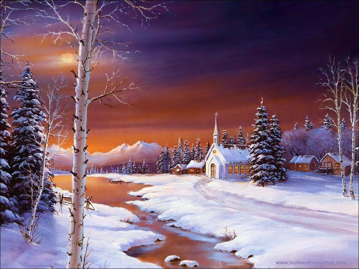Christmas Night Wallpaper image gallery 1152x864