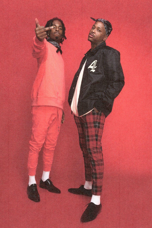 YG Playboi Carti Front 4Hunnids Late to School Lookbook 1000x1500