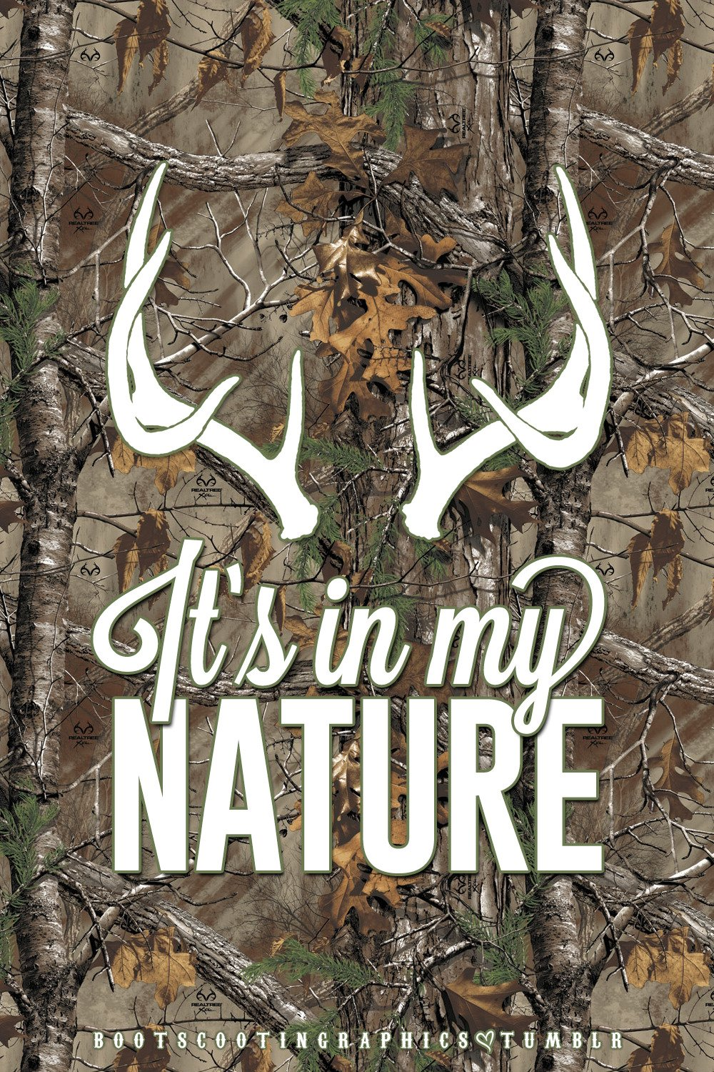 Realtree Camo Hunting Antlers Iphone 4 Wallpaper 1000x1500