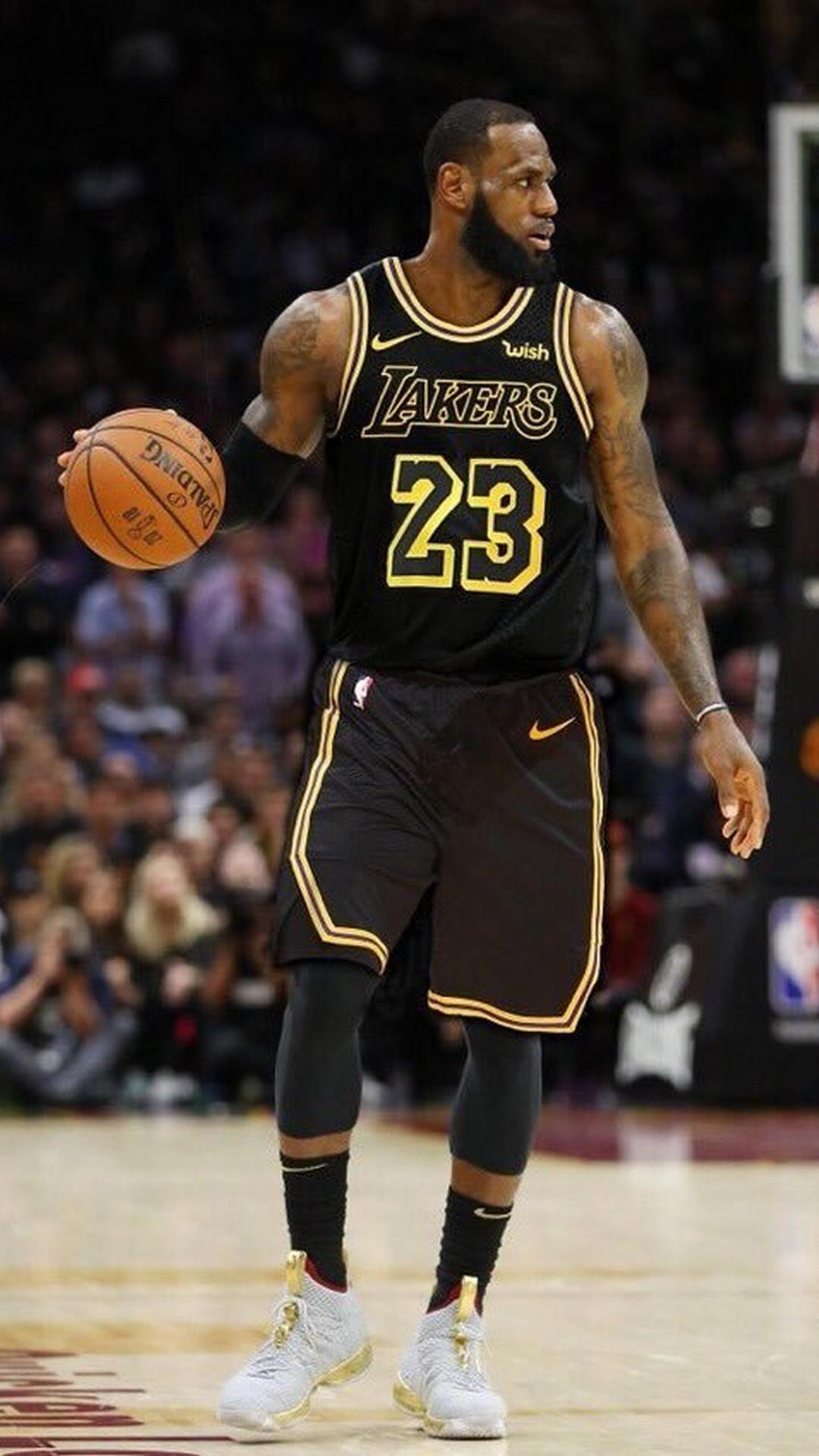 LeBron James LA Lakers iPhone 6 Wallpaper 2020 Basketball Wallpaper 1080x1920