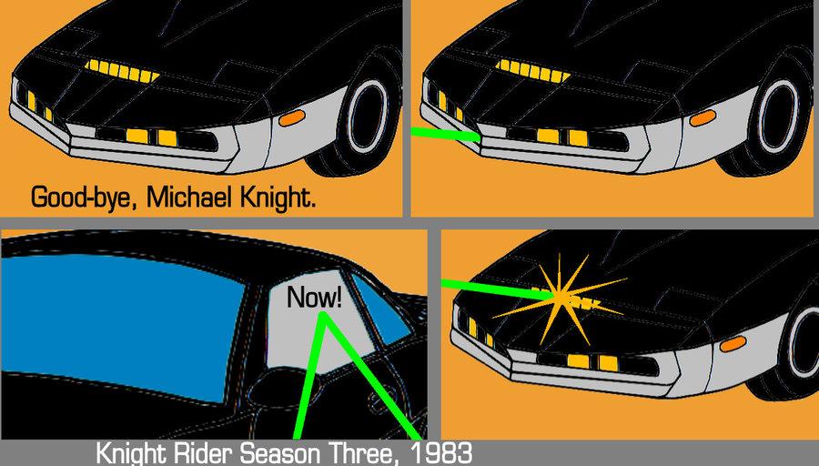 KITT VS KARR Comic Remake by FavoriteArtMan 900x512