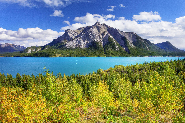 Beautiful nature scene Abraham Lake Alberta Scenery and 3000x2000