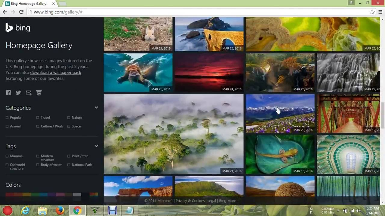 How to download wallpapers from bing gallery without bing 1280x720