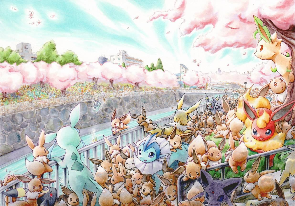 Welcome to Eevee Paradise   Pokemon Wallpaper 1236x863