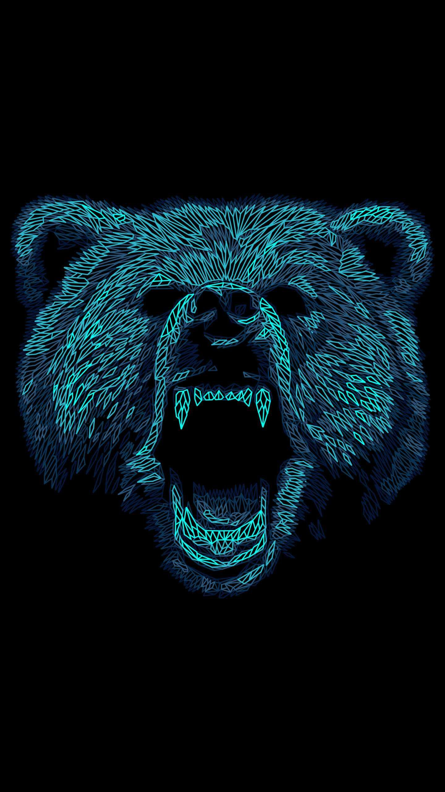 Angry Bear Art iPhone Wallpaper iPhone Wallpapers in 2019 Bear 1440x2560