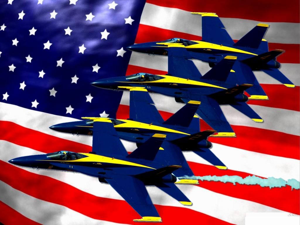 Computer wallpaper A Patriotic Air Show 1024x768