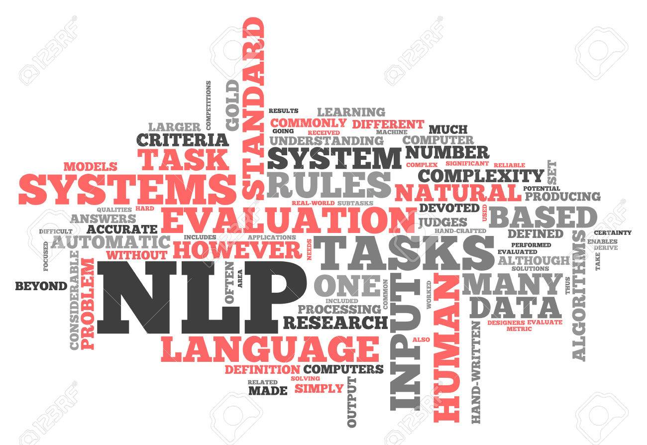 Word Cloud With NLP Related Tags Stock Photo Picture And Royalty 1300x894